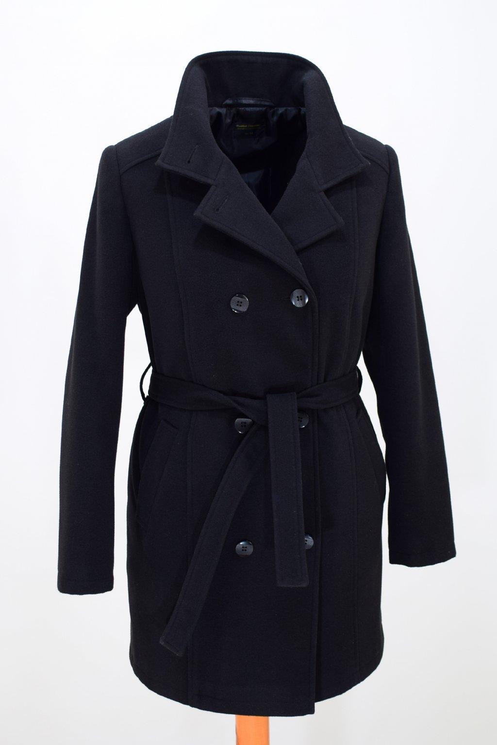 Dámský černý zimní kabát Sofie.