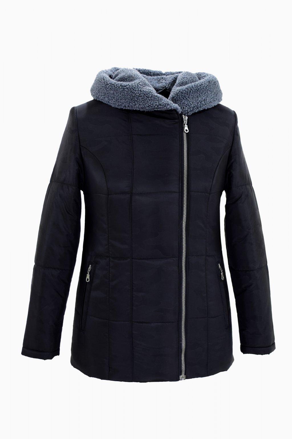 Dámská černá zimní bunda XENA nadměrné velikosti.
