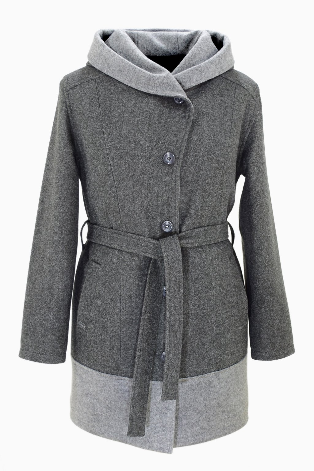Dámský tmavě šedý zimní kabát Mája