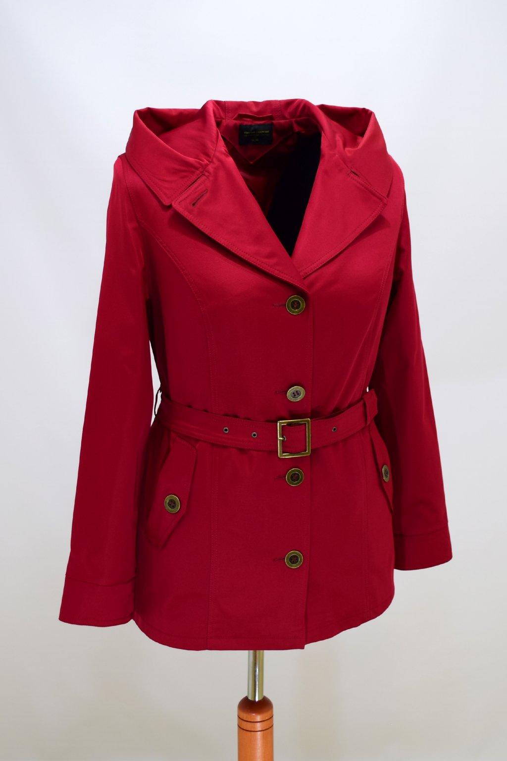 Dámský vínový jarní kabátek Eva nadměrné velikosti
