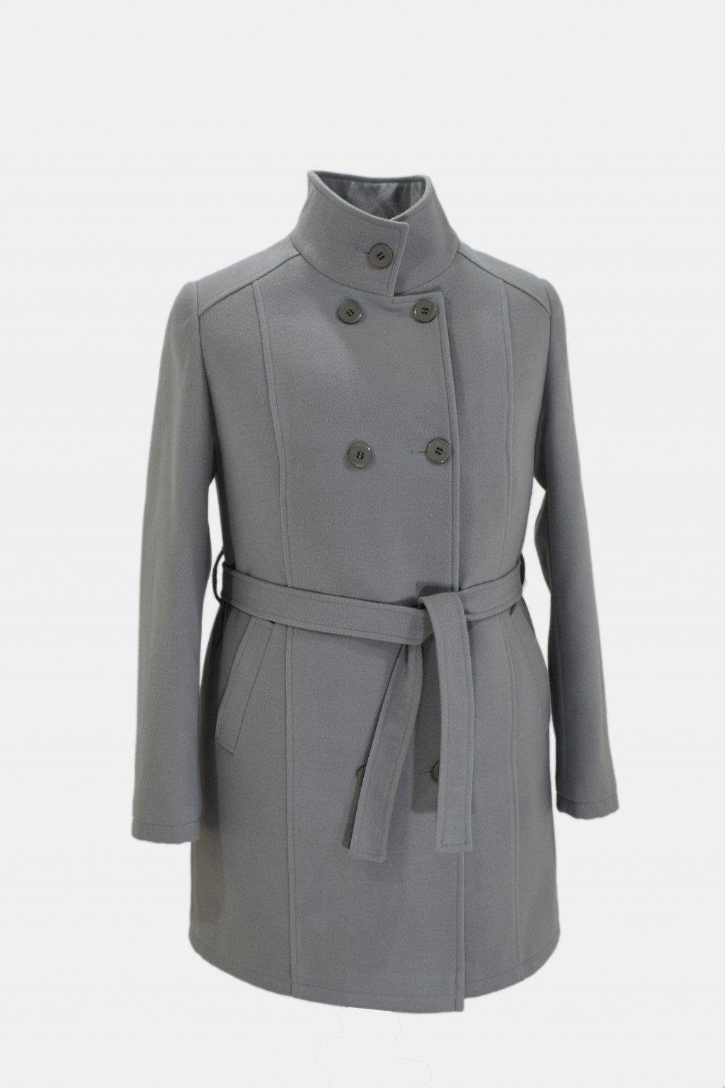 Dámský světle šedý zimní kabát Sofie.