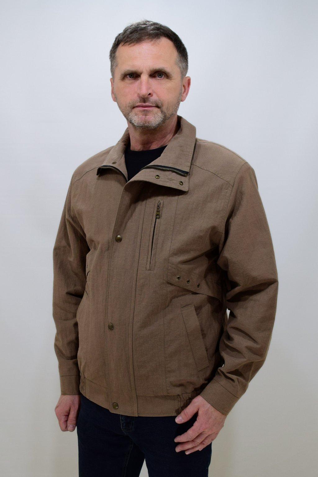 Pánská jarní oříšková bunda Boris nadměrné velikosti.