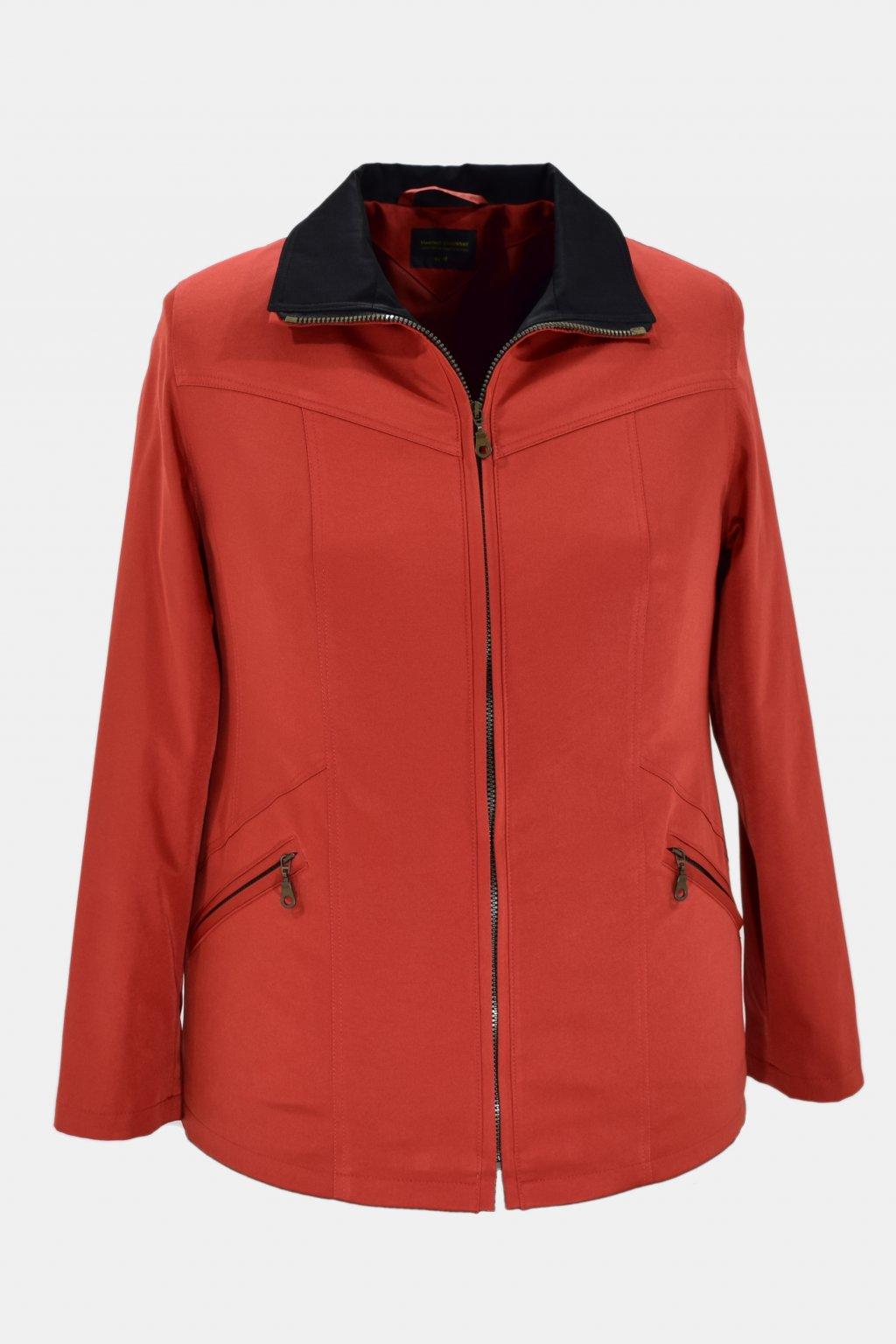Dámská dooranžova  jarní bunda Ema nadměrné velikosti.