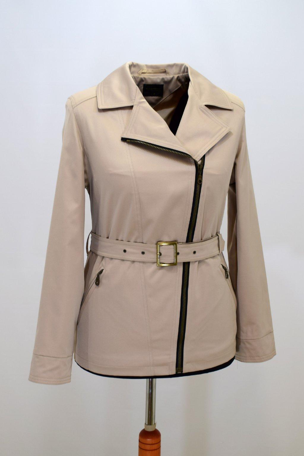 Dámský béžový jarní kabátek Zora nadměrné velikosti