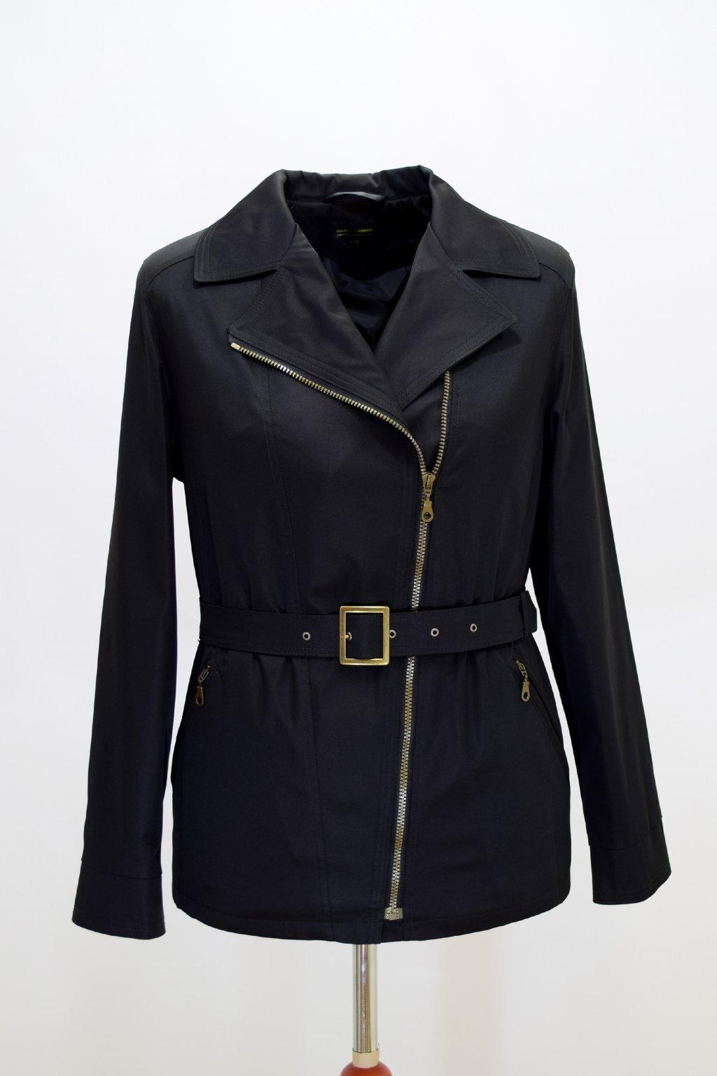 Dámský černý jarní kabátek Zora nadměrné velikosti