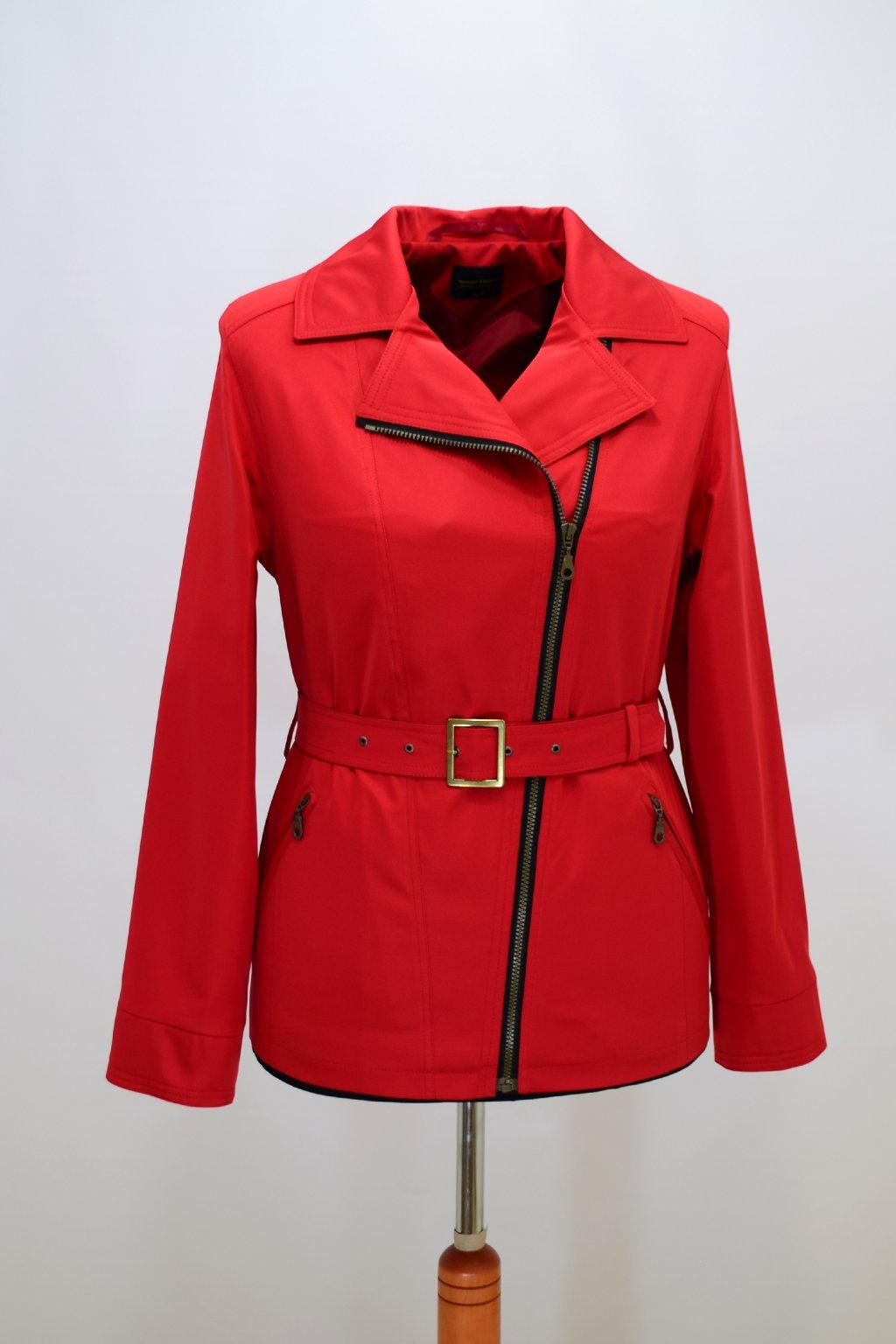 Dámský červená jarní kabátek Zora nadměrné velikosti