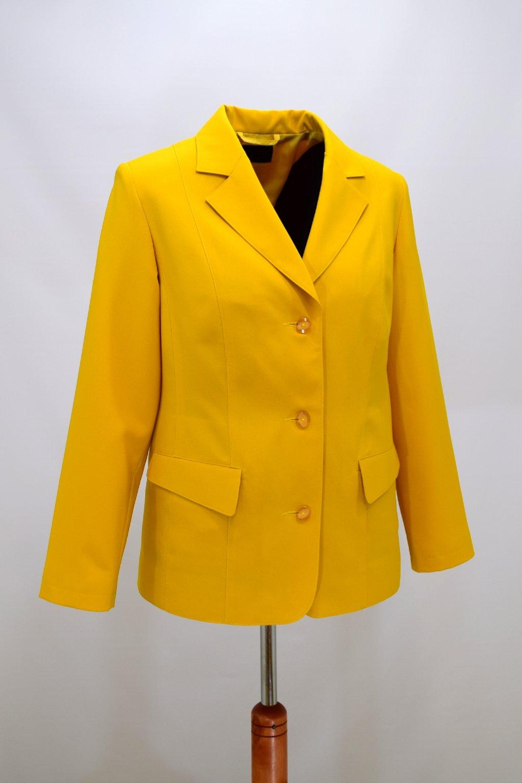 Dámské žluté sako Diana nadměrné velikosti.