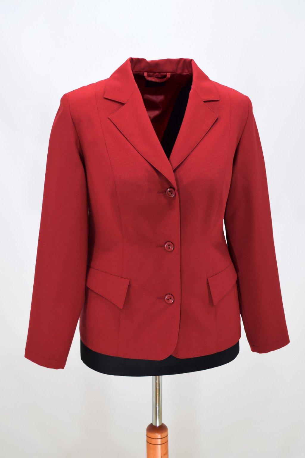 Dámské vínovočervené sako Manon.