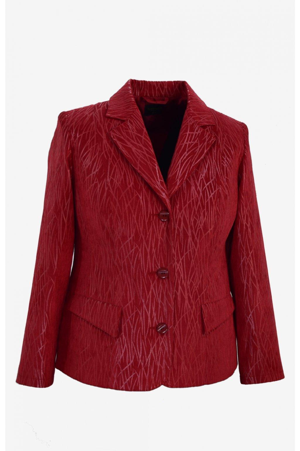 Dámské sako Manon-červený vzor