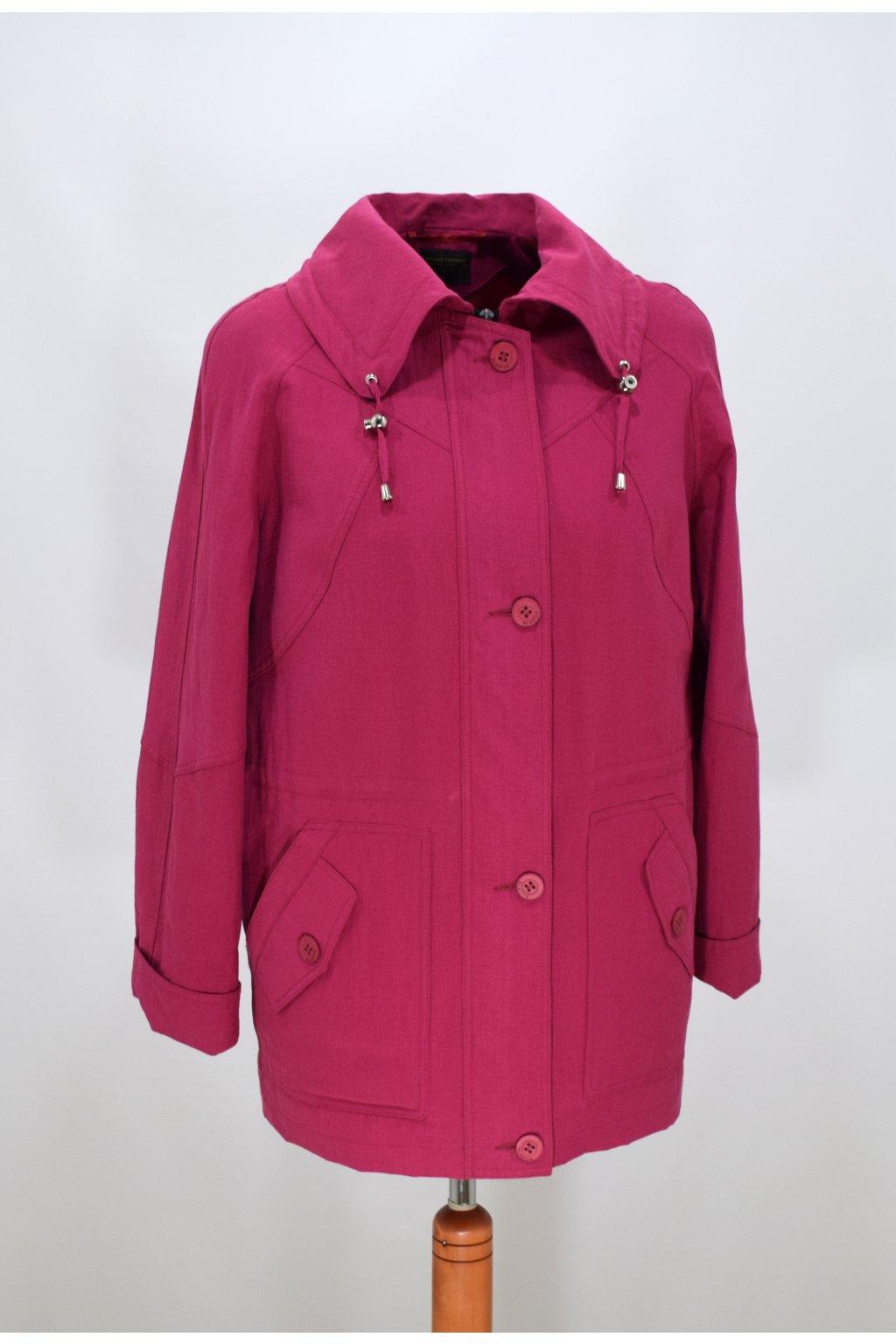 Dámská jarní růžová bunda Karmen nadměrné velikosti.
