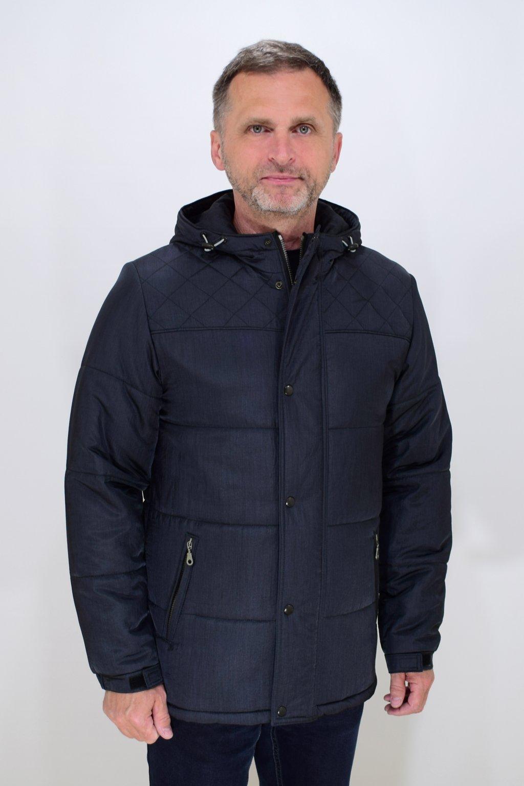 Pánská šedá zimní bunda David nadměrné velikosti