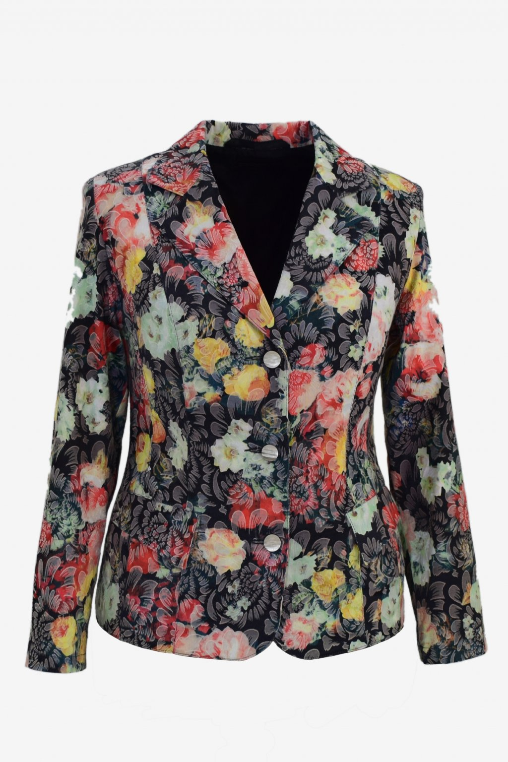 Dámské sako Manon-květinový vzor.