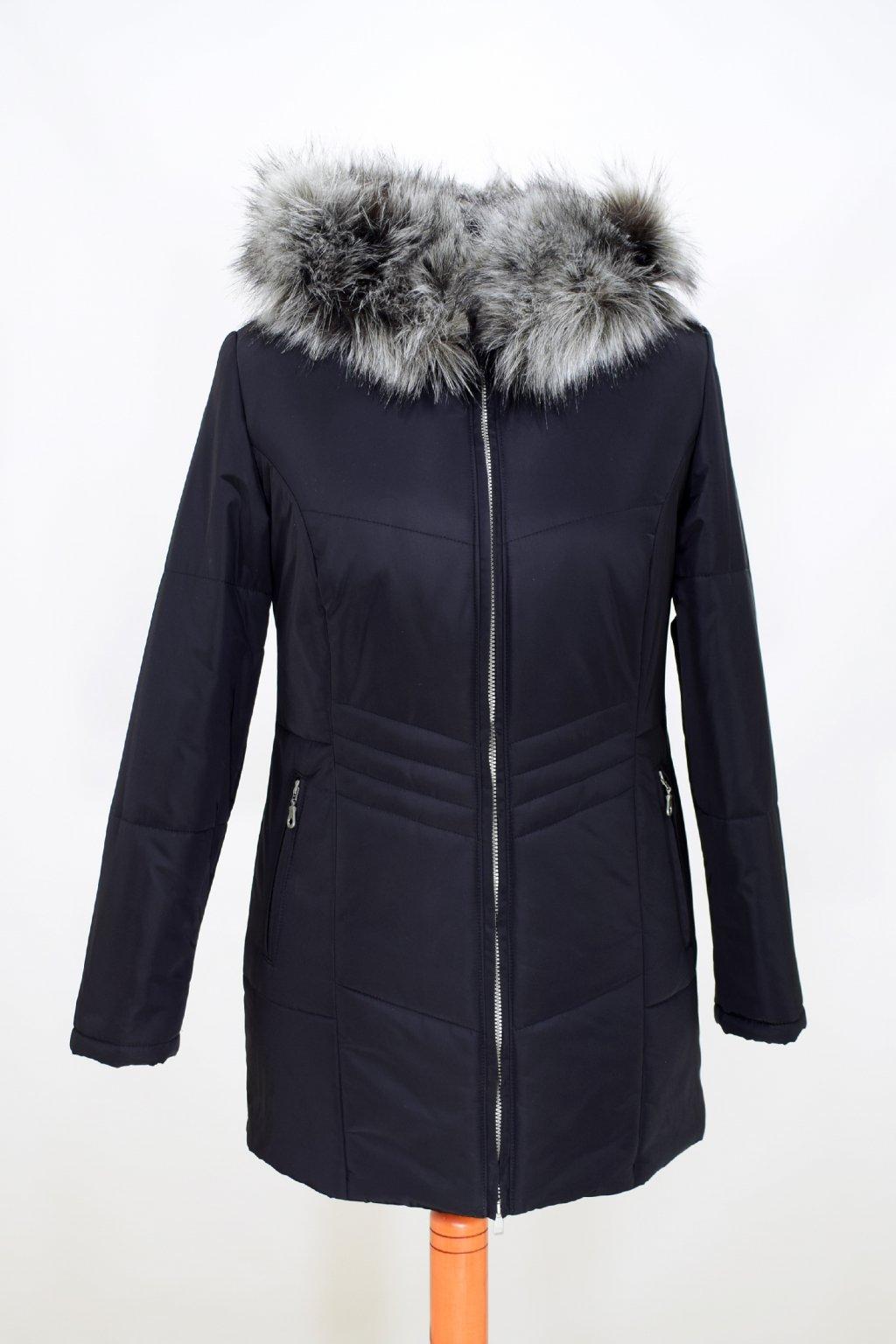 Dámská černá zimní bunda Judita nadměrné velikosti