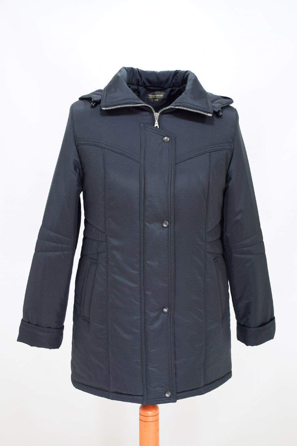 Dámská zimní bunda Kamila černá nadměrné velikosti