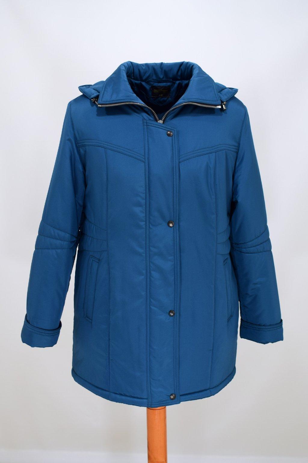 Dámská zimní bunda Kamila petrol nadměrné velikosti