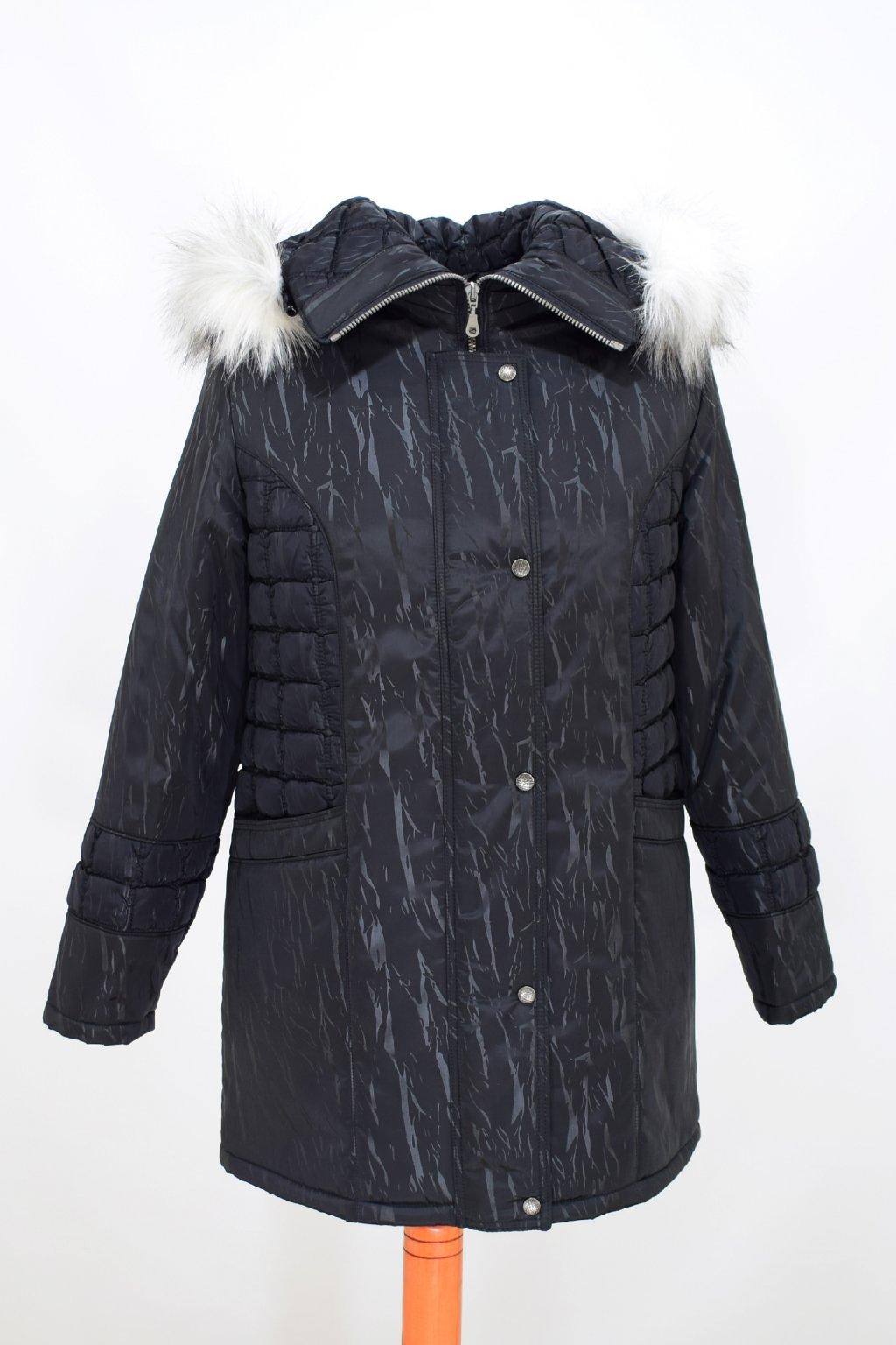 Dámská černá zimní bunda Tereza nadměrné velikosti
