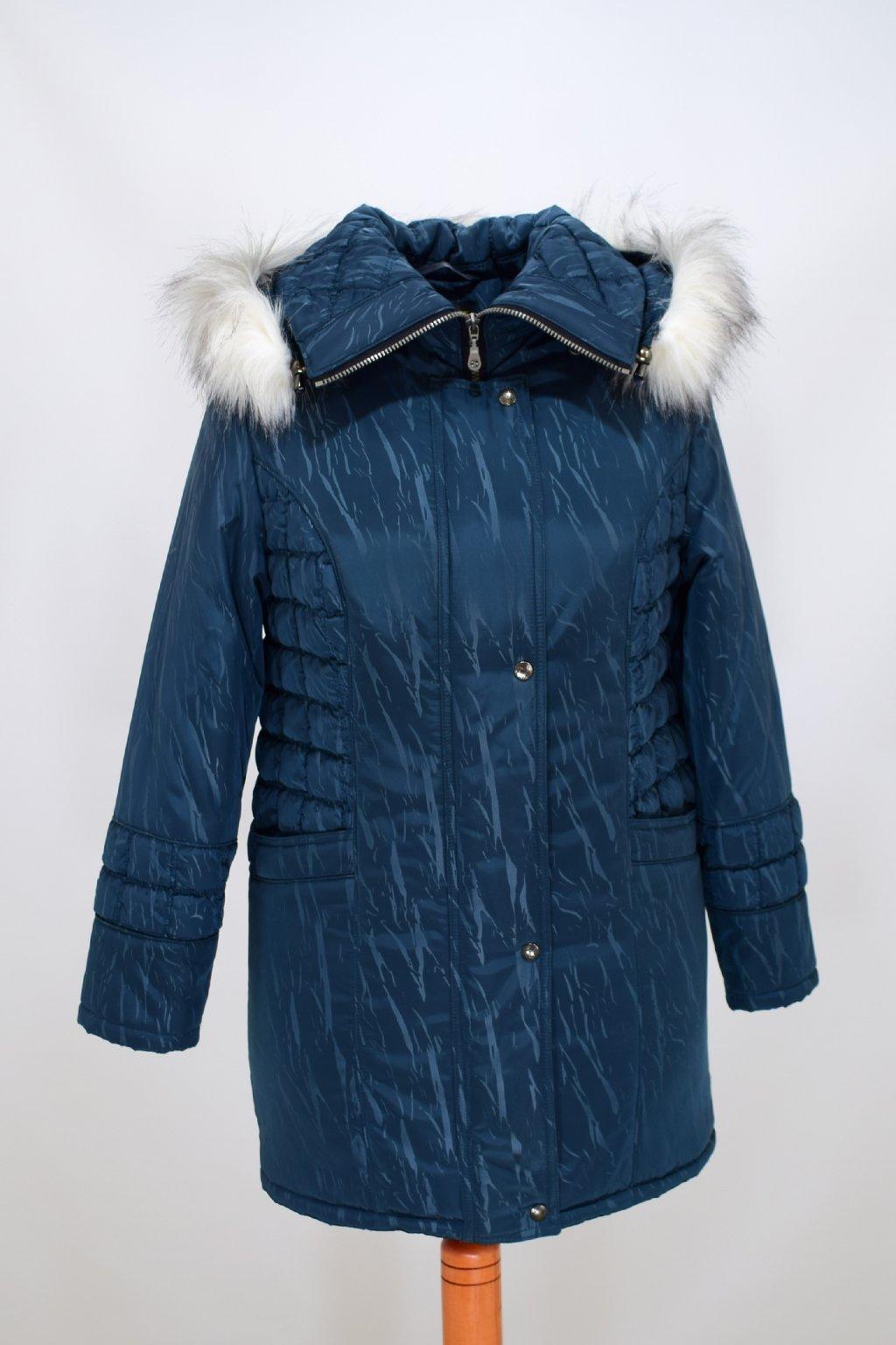 Dámská zimní bunda Tereza petrol nadměrné velikosti