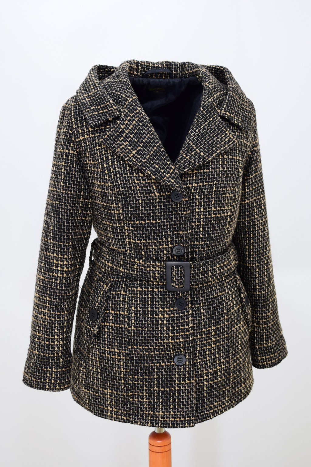 Dámský hnědý přechodový kabátek Aneta nadměrné velikosti