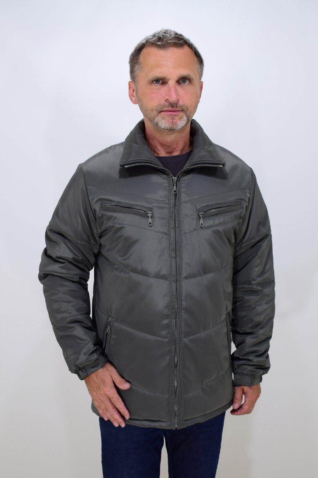 Pánská zelená zimní bunda Vojta nadměrné velikosti