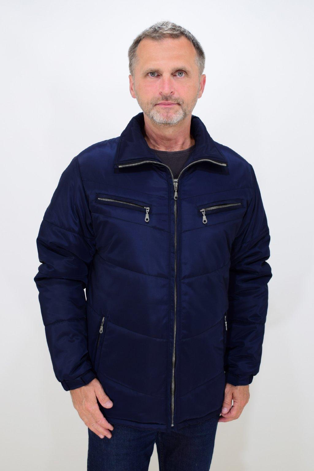 Pánská modrá zimní bunda Vojta nadměrné velikosti
