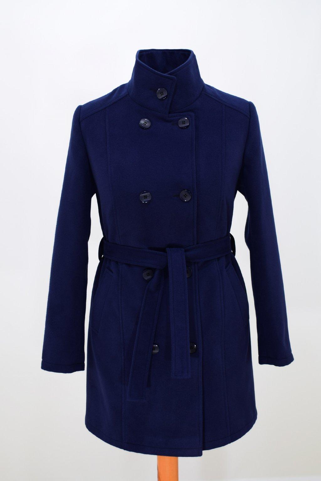 Dámský modrý zimní kabát Sofie.