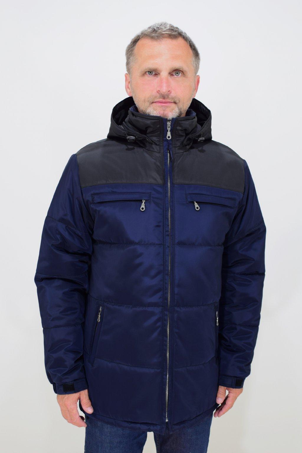 Pánská modrá zimní bunda Filip nadměrné velikosti