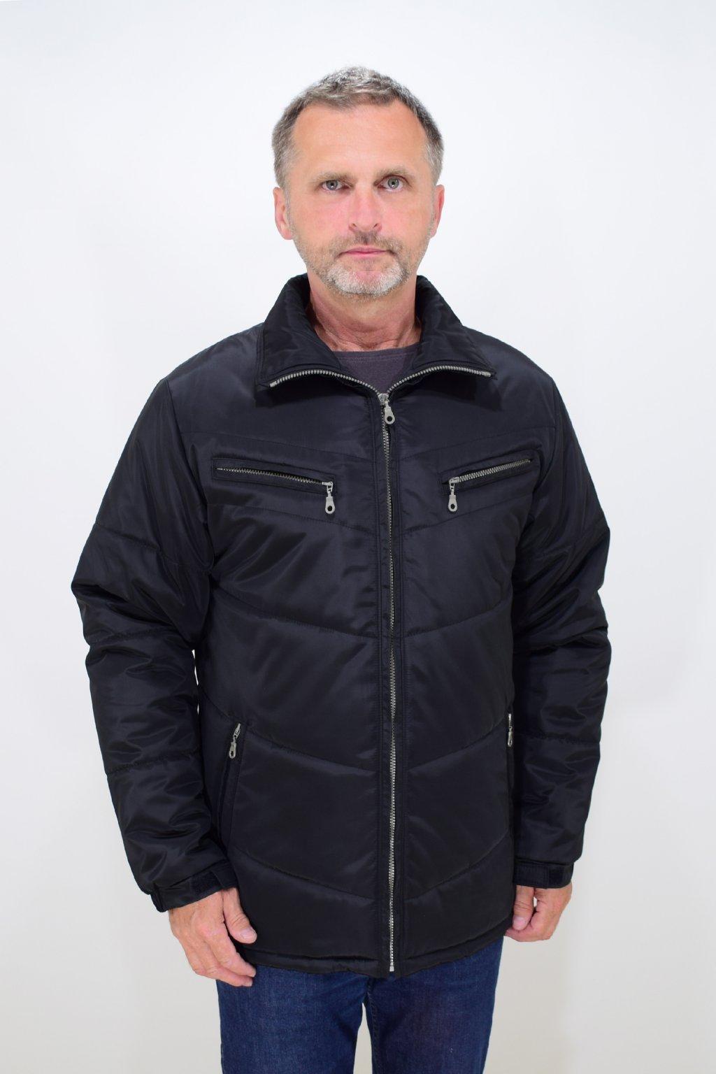 Pánská černá zimní bunda Vojta nadměrné velikosti