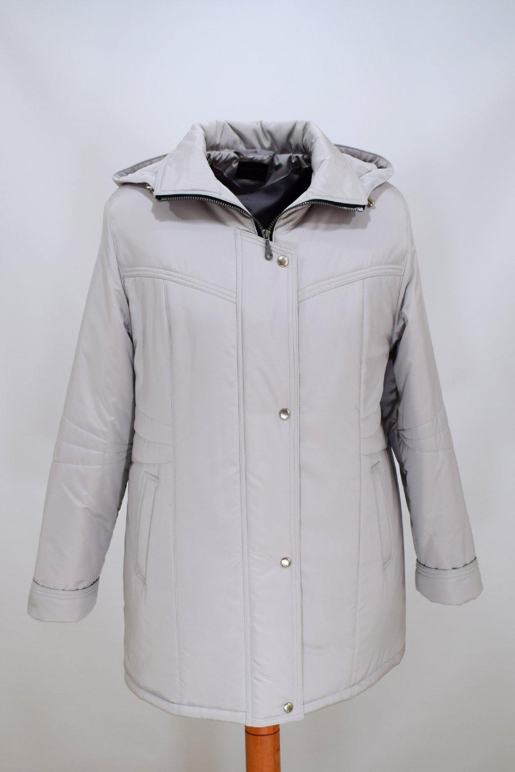Dámská zimní bunda Kamila šedá nadměrné velikosti