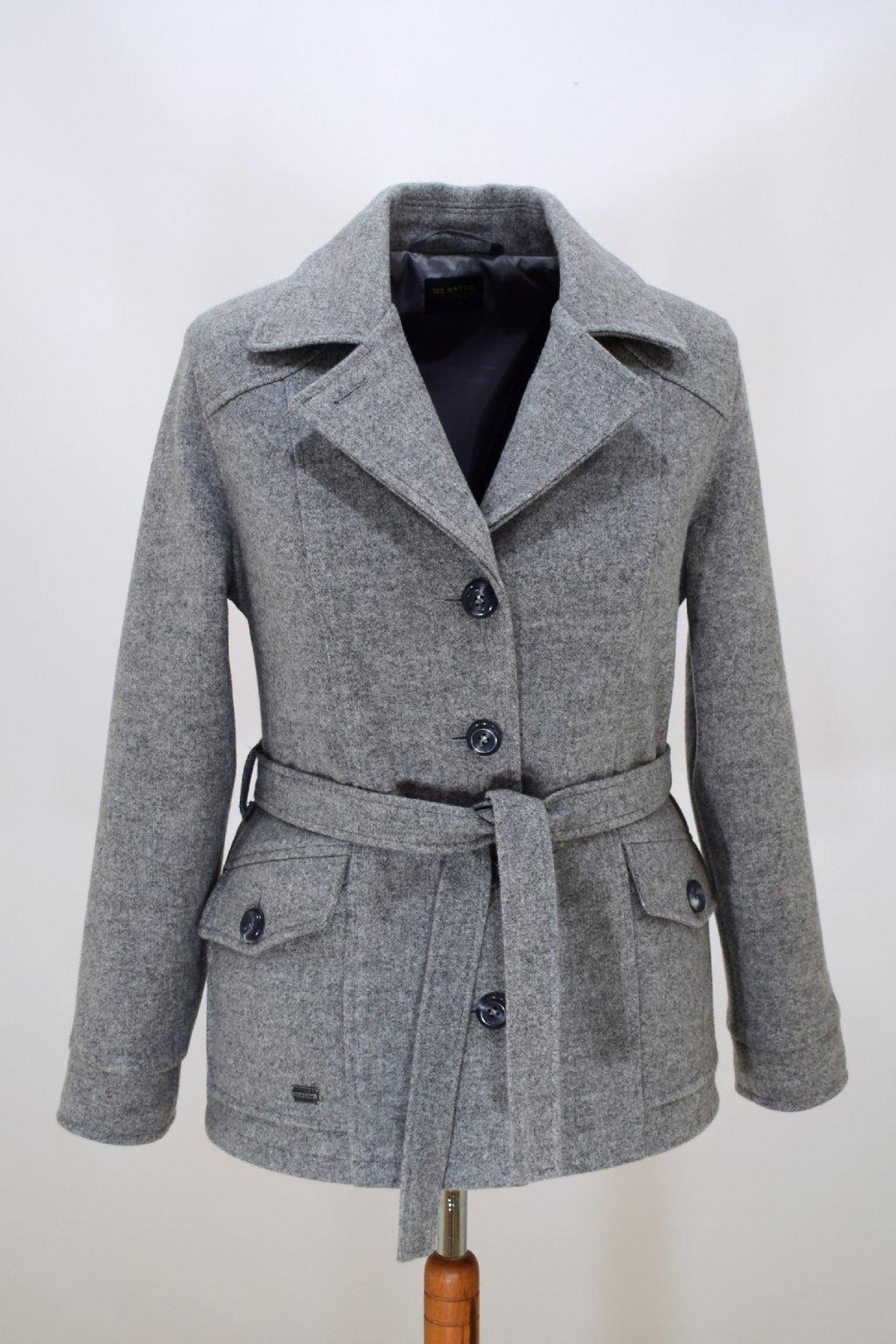 Dámský světle šedý přechodový kabátek Erika nadměrné velikosti.