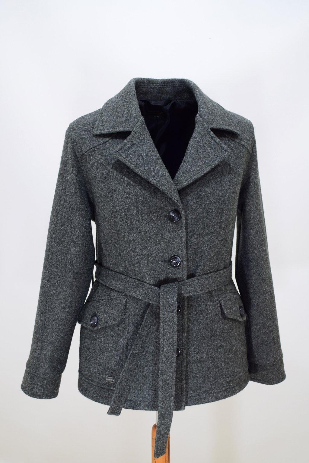 Dámský tmavě šedý přechodový kabátek Erika nadměrné velikosti.