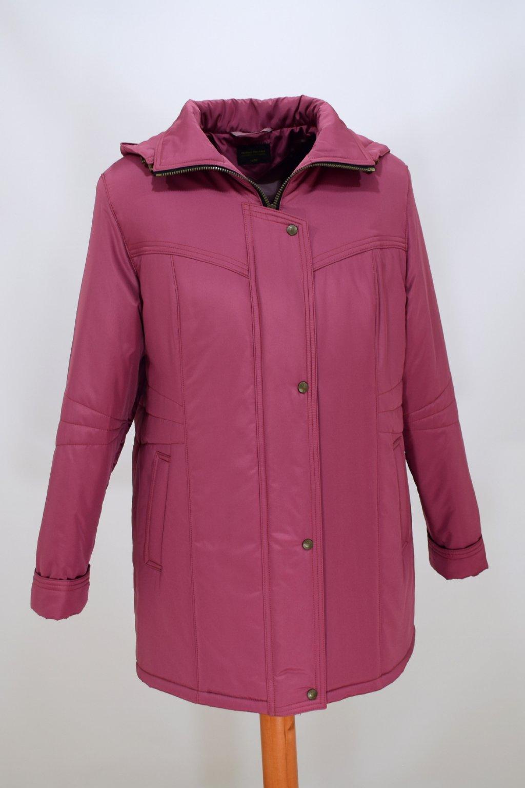 Dámská zimní bunda Kamila starorůžová nadměrné velikosti