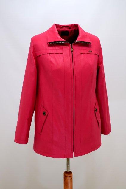 Dámská červená jarní bunda Raduza nadměrné velikosti.