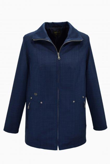 Dámská tmavě modrá jarní bunda Milena nadměrné velikosti