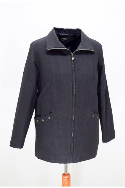 Dámská jarní černá bunda Aranka nadměrné velikosti.
