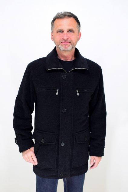 Pánský zimní flaušový kabát Jirka nadměrné velikosti.