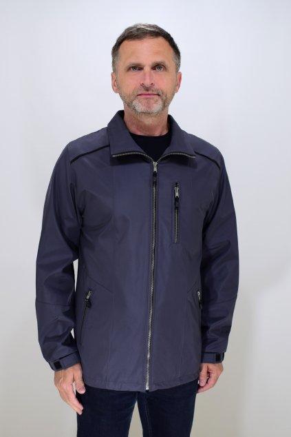 Pánská jarní tmavě šedá bunda Lukáš nadměrné velikosti