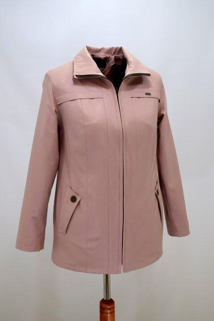Dámská jarní růžová bunda Raduza nadměrné velikosti.