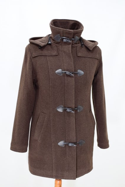 Dámská zimní hnědá bunda Babeta nadměrné velikosti.