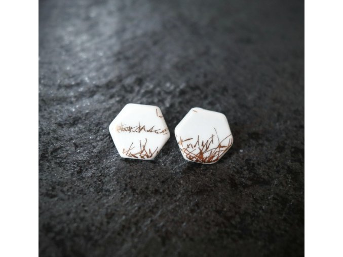 Porcelánové náušnice