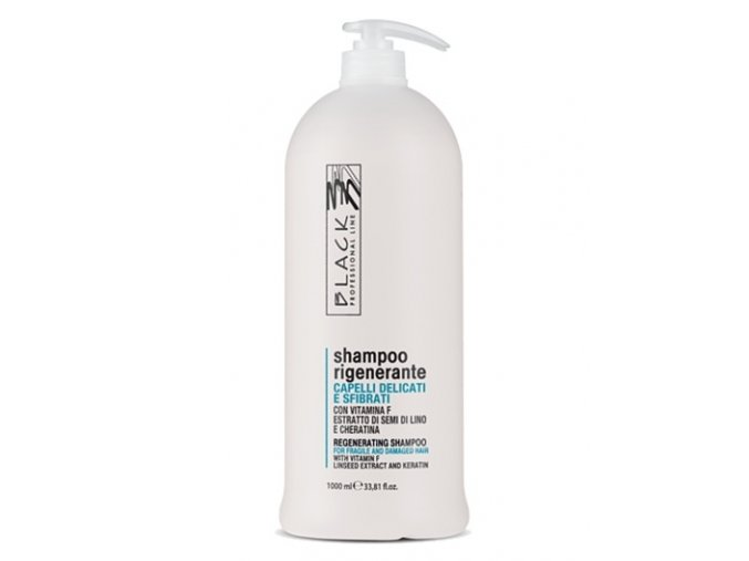 BLACK Intensive Repair Shampoo 1000ml - regenerační šampon pro jemné s suché vlasy