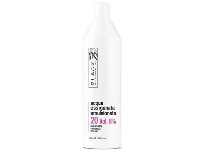 BLACK Professional Krémový 6% peroxid vodíků 1000ml - oxidační krém 20vol