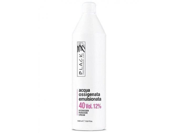 BLACK Professional Krémový 12% peroxid vodíků 1000ml - oxidační krém 40vol