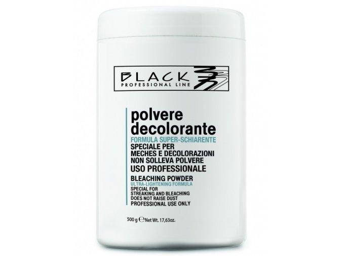 BLACK Melír Polvere Decolorante 500g - odbarvovací a melírovací bezprašný prášek - modrý