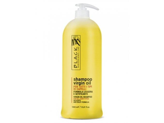 BLACK Virgin Jemný olejový šampon pro suché vlasy 1000ml