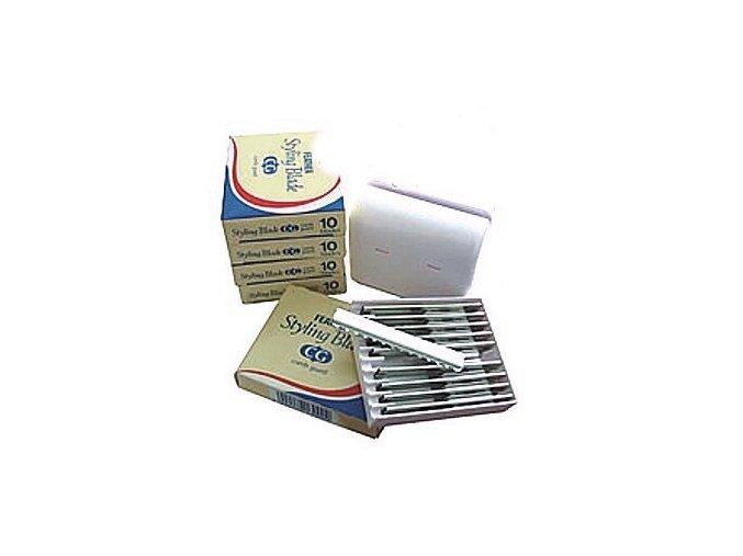 FEATHER Styling Blade - efilační žiletky - set  5x10ks + box