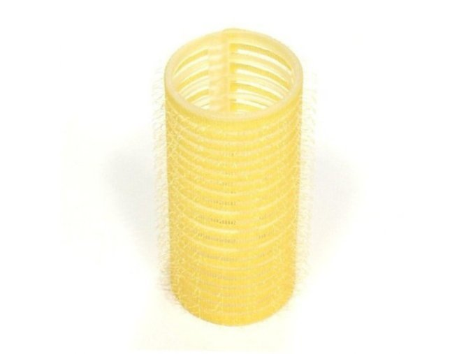 DUKO Natáčky Velcro natáčky na vlasy 28mm žluté 6ks