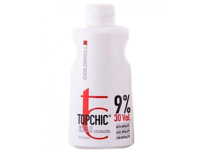 GOLDWELL Topchic Developer Lotion 9% (vol30) - krémový peroxid vodíků 1000ml