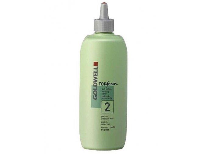 GOLDWELL TopForm 2 - Trvalá ondulace mírně alkalická pro narušené vlasy 500ml