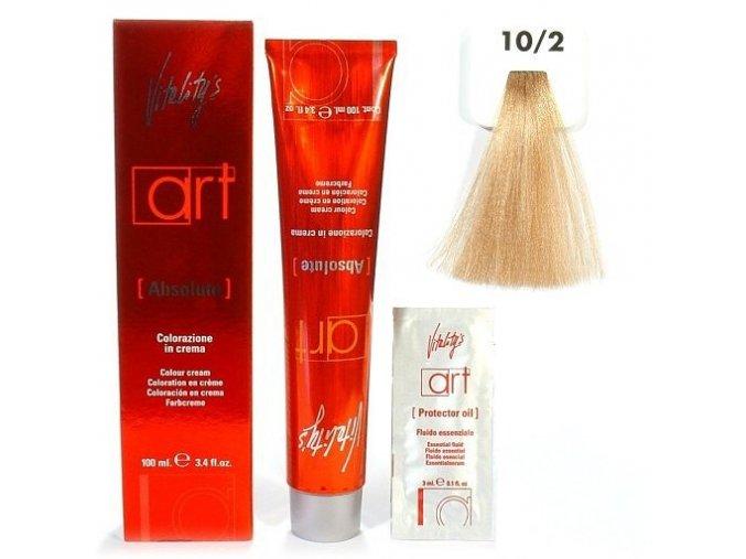 VITALITYS Art Absolute Barva na vlasy s leskem - super světle béžová blond 10-2