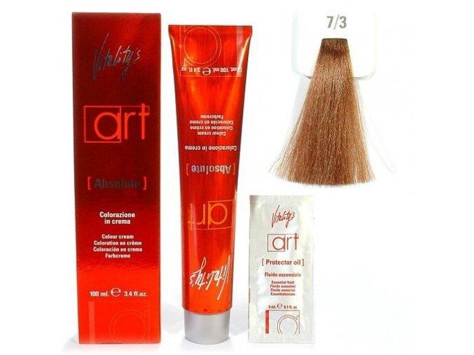 VITALITYS Art Absolute Permanentní barva na vlasy s leskem - zlatá blond 7-3